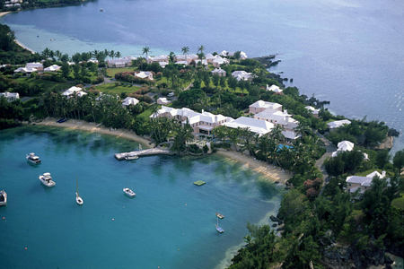 aerial view of cambridge beaches resort and spa bermuda