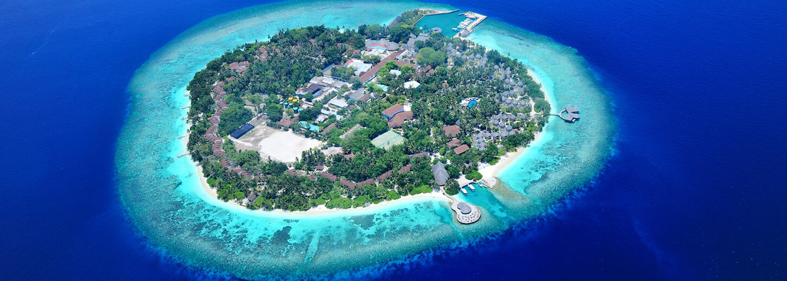 aerial view at Bandos Island Resort Maldives