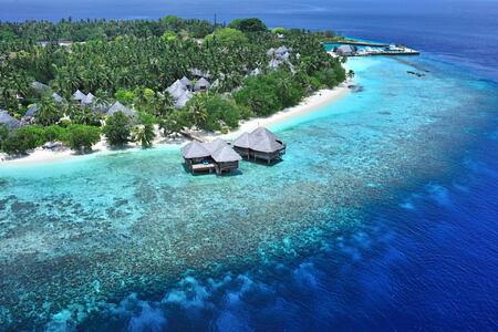 aerial view of bandos island at Bandos Island Resort Maldives