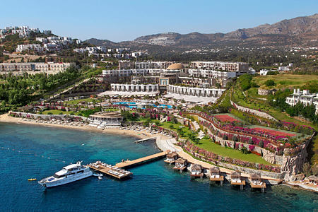 aerial view of the resort at sianji wellbeing resort turkey
