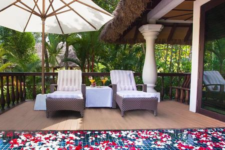 akund villa deck at Carnoustie Ayurveda & Wellness Resort