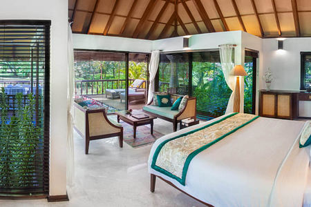 akund villa interior at Carnoustie Ayurveda & Wellness Resort