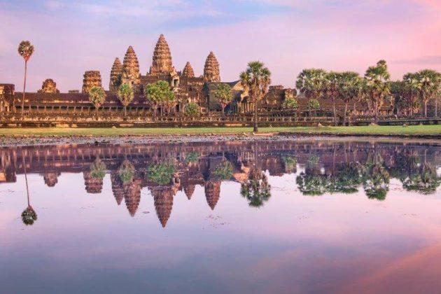 angkor wat at sunrise at navutu dreams resort cambodia