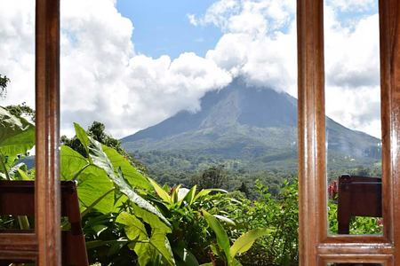 arenal volcano at lost iguana hotel costa rica