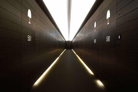 classic room corridor at armani hotel dubai