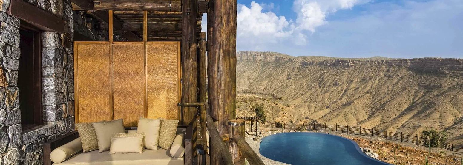 balcony at alila jabel akhdar resort oman