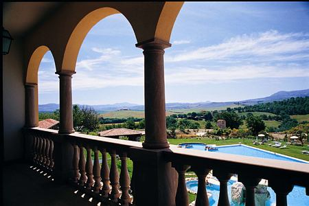 balcony view at Adler Thermae hotel italy