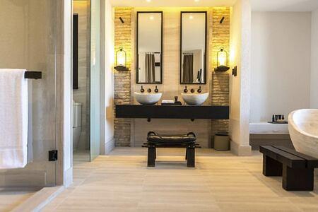 bathroom at alila jabel akhdar resort oman