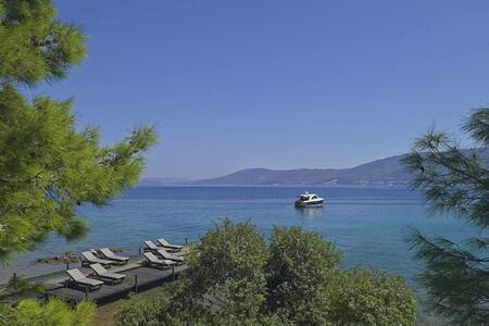 beach club jetty at amanruya hotel turkey