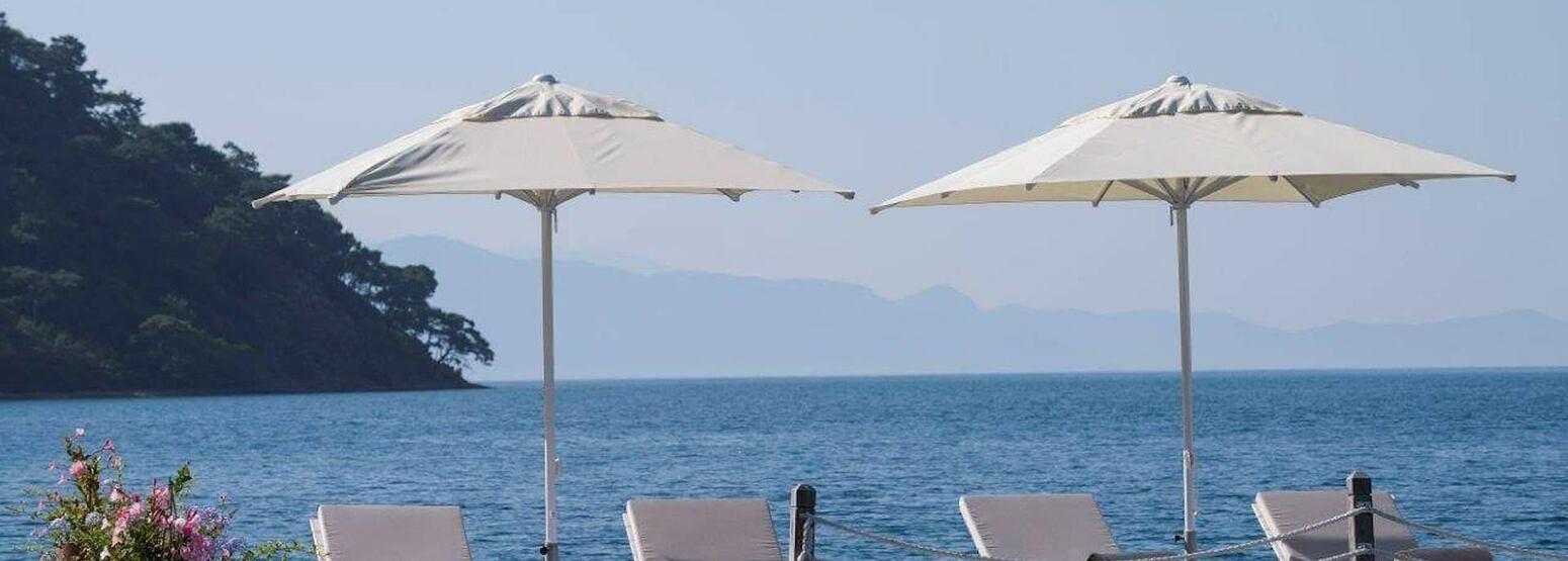 beach deck at d-resort turkey