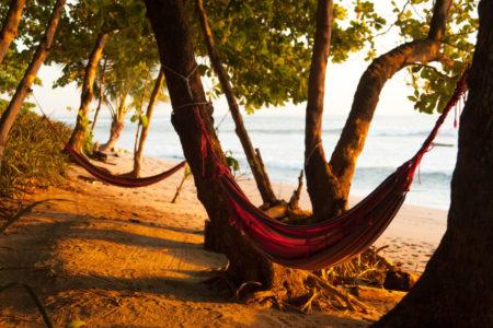 beach hammocks at latitude 10 costa rica