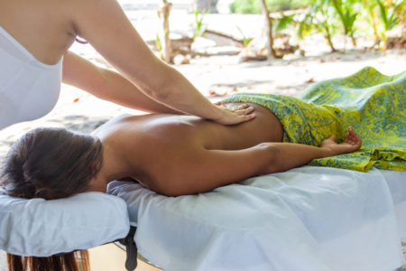 beach massage at latitude 10 costa rica