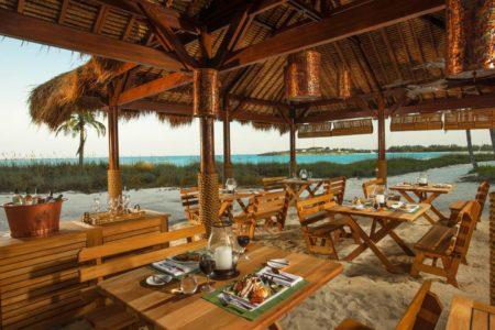 beach restaurant at sandals emerald bay resort bahamas