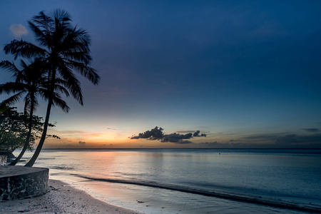 beach-sunset-at-east-winds-st-lucia