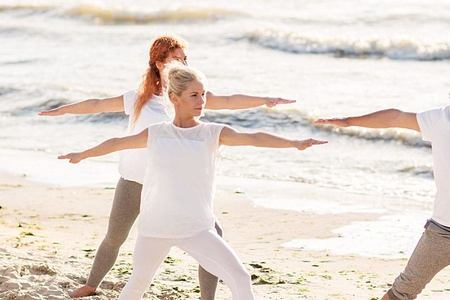 beach yoga at longevity vilamoura and medical spa algarve