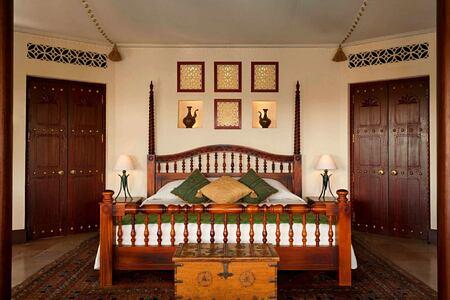 bedouin suite - custom size king bed at al maya desert resort dubai