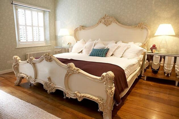 bedroom at babington house somerset uk