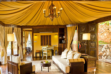 berber tent suite at kasbah tamadot hotel morocco