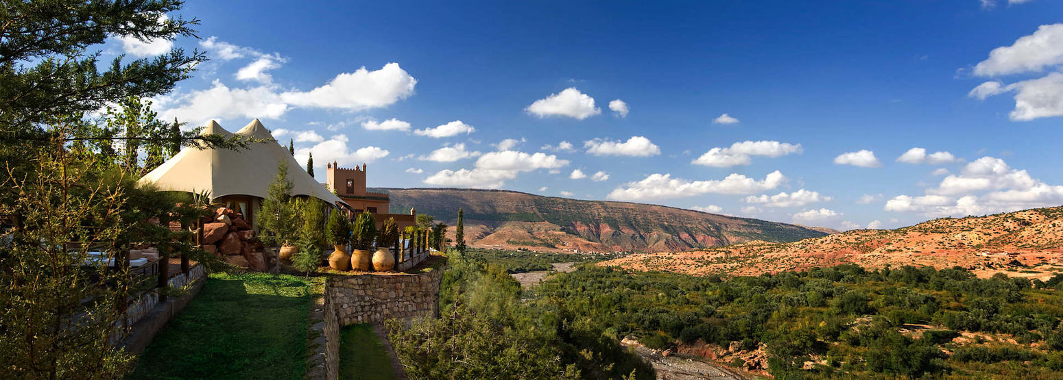 berber tent suite and view at kasbah tamadot hotel morocco