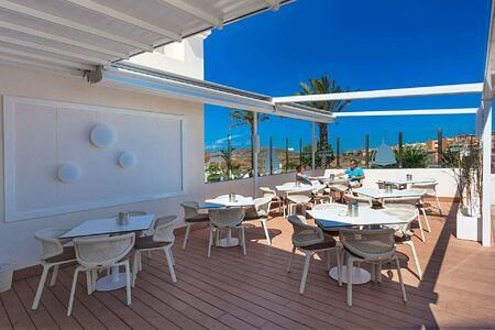 bikini club terrace at Bahiazul Villas and Club