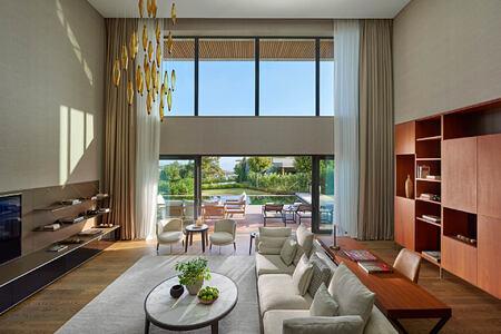 duplex private pool living room at mandarin oriental bodrum hotel turkey
