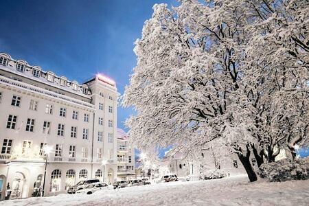 snow at hotel borg
