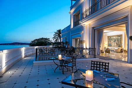night terrace at cap estel hotel france