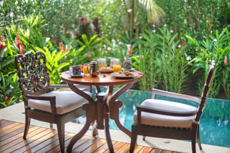 breakfast beside your private villa plunge pool at nayara springs hotel costa rica