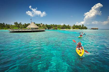 canoeing at Bandos Island Resort Maldives
