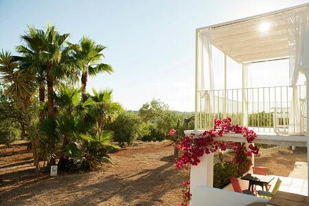 deluxe garden balcony at can gasi hotel ibiza
