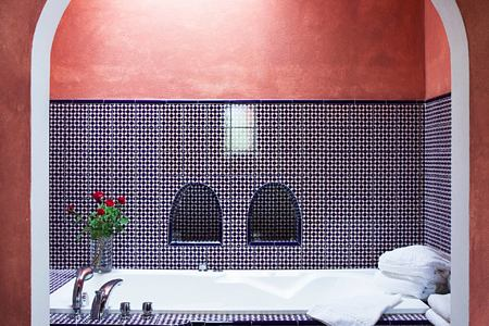 deluxe suite bathroom at can gasi hotel ibiza