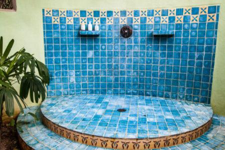 casita open air shower at latitude 10 costa rica