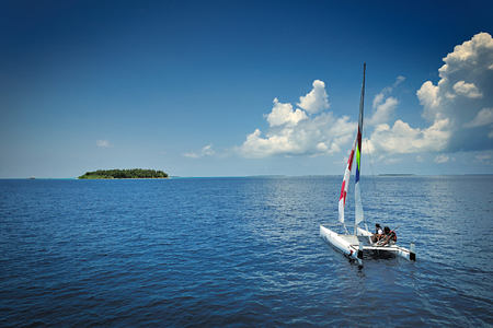 catamaran sailing at Bandos Island Resort Maldives