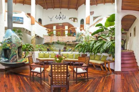 central atrium at finca rosa blanca resort costa rica