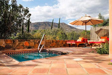 cielo terra terrace and plunge pool at rancho la puerta spa retreat mexico