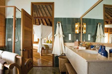 villa bathroom at coco palm dhuni kolhu resort maldives