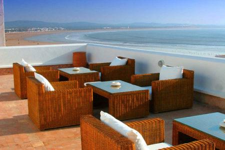 contemporary rooftop seating Madada Mogador