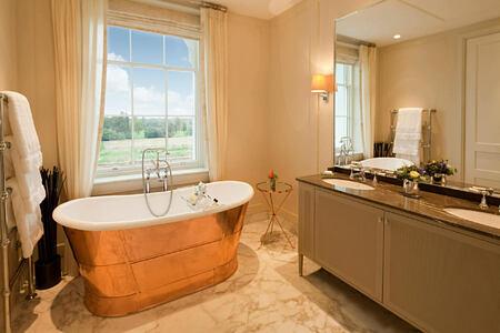 copper bath tubs at coworth park england uk