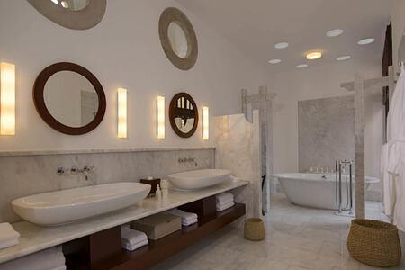cottage bathroom at amanruya hotel turkey