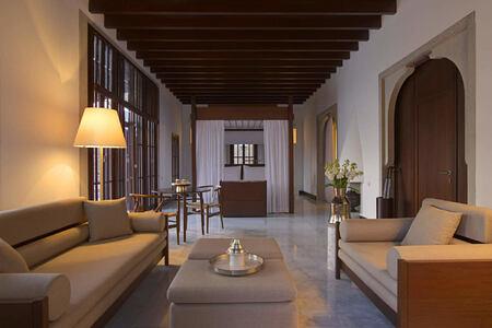 cottage interior at amanruya hotel turkey