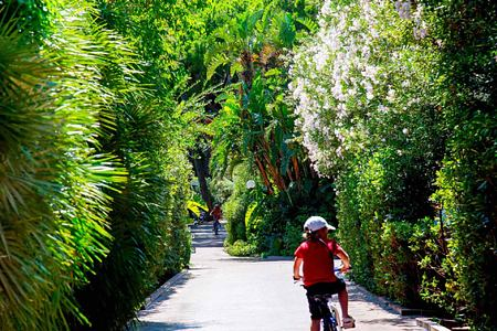 cycling around the resort at Pineta Hotel Italy