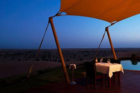 deck dining at al maya desert resort dubai