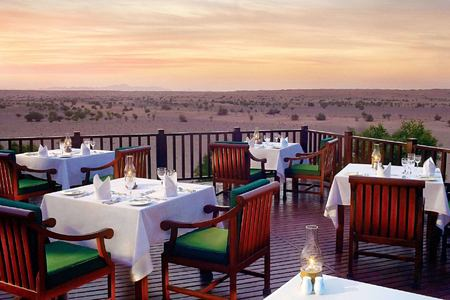 deck evening at al maya desert resort dubai