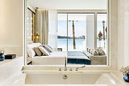 deluxe junior suite with sea view at nobu hotel ibiza bay