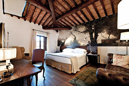deluxe room at Castel Monastero hotel