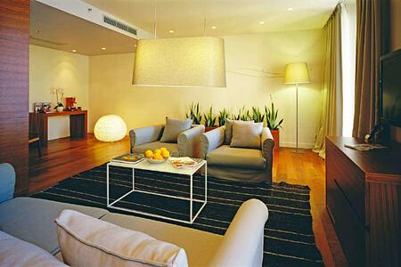 deluxe suite living room at sunrise at villa dubrovnik croatia