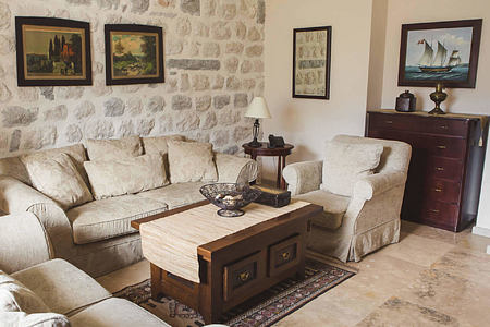 deluxe suite sitting room at palazzo radomiri hotel montenegro