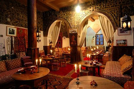 dining room at Kasbah du Toubkal hotel morocoo