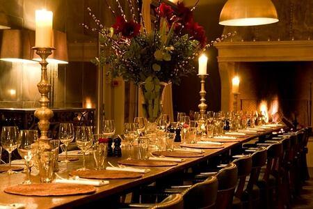 dining room at babington house somerset uk