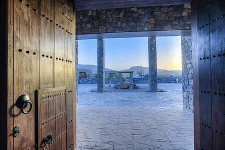 door lobby at alila jabel akhdar resort oman